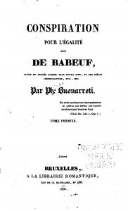 Conspiration pour l'egalité dite de Babeuf