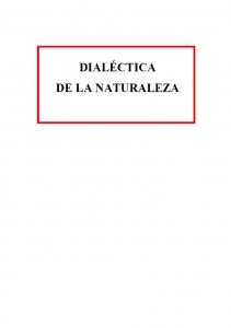 Dialéctica de la naturaleza