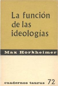 La función de las ideologías