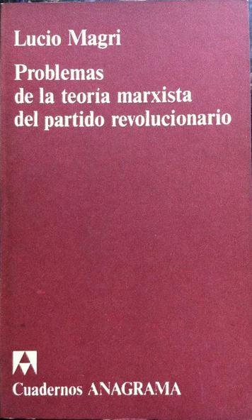 Problemas de la teoría marxista del partido revolucionario