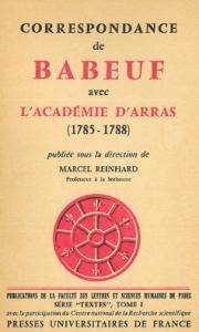 Correspondance de Babeuf avec l'Académie d'Arras (1785-1788)