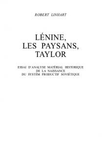 Lenine, les paysants, Taylor