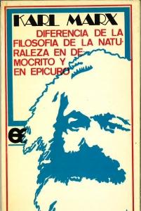 Diferencia de la filosofía de la naturaleza en Demócrito y en Epicuro