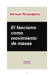 El fascismo como movimiento de masas