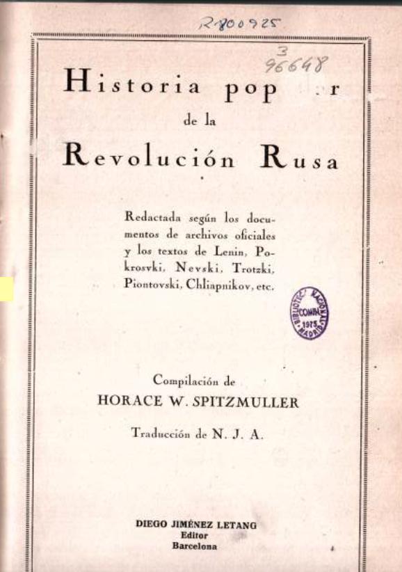 Historia popular de la revolución rusa