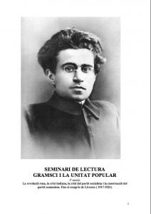 Seminari de lectura Gramsci i la unitat popular : 1ª sessió