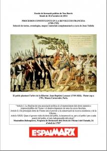 Processos constituents en la Revolución francesa (1789-1795) Selecció de textos, cronologies, mapes i materials complementaris a cura de Joan Tafalla