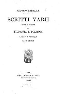 Scritti varii di filosofia e politica
