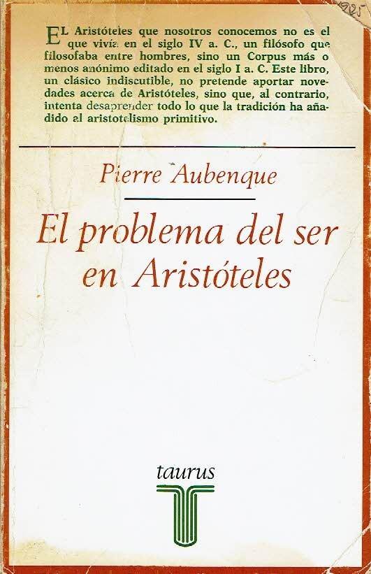 El problema del Ser en Aristóteles