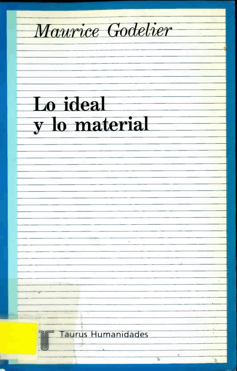 Lo ideal y lo material
