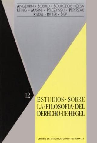 Estudios sobre la «filosofía del Derecho» de Hegel