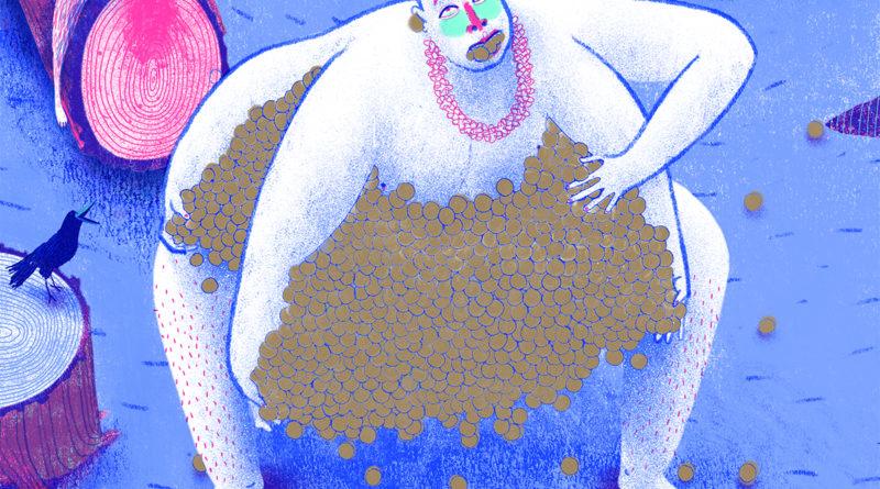 Imagen del dibujante español Maguma en su libro Karl Marx, the God of money.